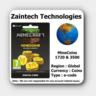3500 Coins - Minecraft ( Minecoins Pack ) - Global - (Delivery in 24 Hours)