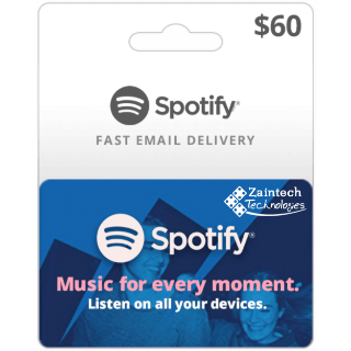 $60 Spotify US Region GIft Card - (Delivery Within 24 Hours)