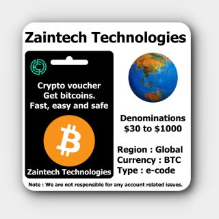 $100 Crypto Voucher (BTC Gift Card) - (Global) - (Delivery in 24 Hours)