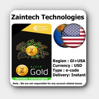 $100 Razer Gold USA + GLOBAL - (Instant Delivery)
