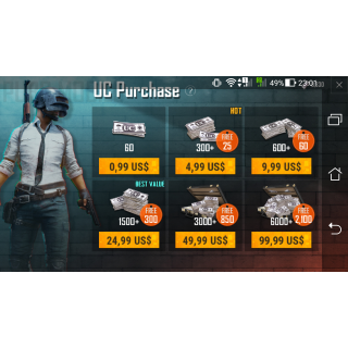 I will help you buy UC in Pubg Tencent