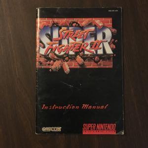 Super Street Fighter II - SNES Manual