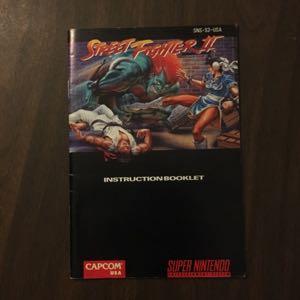 Street Fighter II - SNES Manual
