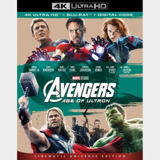 Avengers: Age of Ultron (2015) 4k MA code only  (JBES...)