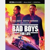 Bad Boys for Life 4K MA code (3LJQ...)