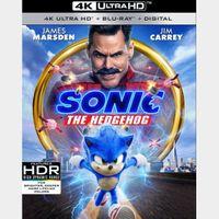 Sonic the Hedgehog 4k itunes (LJW7...)