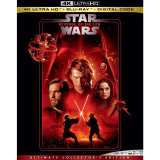 Episode 3 – Revenge of the Sith 4K MA code only (47WM...)