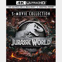 Jurassic World 5-Movie Collection 4k (UDS8...)