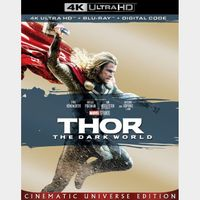 Thor: The Dark World (2013)  MA 4k code only (CE9A...)