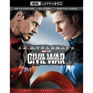 Captain America: Civil War (2016) 4k MA code only  (5DYD...)