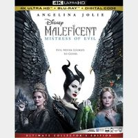 Maleficent: Mistress of Evil 4k MA code only (688E...)