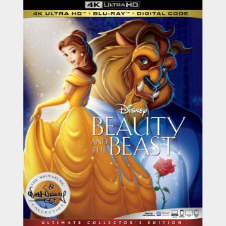 Beauty and the Beast 4k (animated) iTunes only (7KKT...)