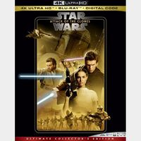 Episode 2 – Attack of the Clones 4K MA code only (47XU...)