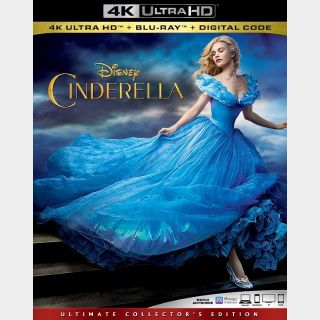 Cinderella live action 4k MA code (8H76...)