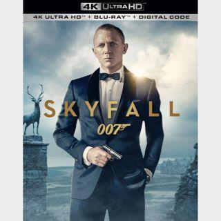 Skyfall 4k Vudu code only (FSHK...)