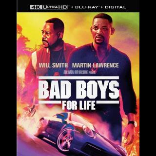 (non-instawatch) Bad Boys for Life 4K MA code (3vaj...)