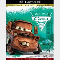Disney Cars 2 4K MA code only (8GDF...)