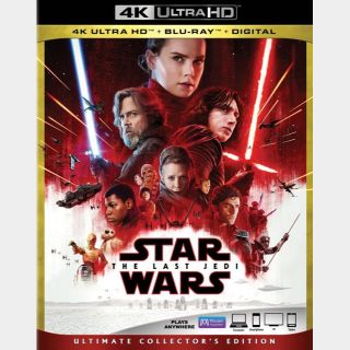 Star Wars: The Last Jedi  4K MA code only (46P5...)