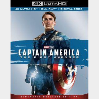 Captain America: The First Avenger (2011) 4k MA code only  (VN4P...)