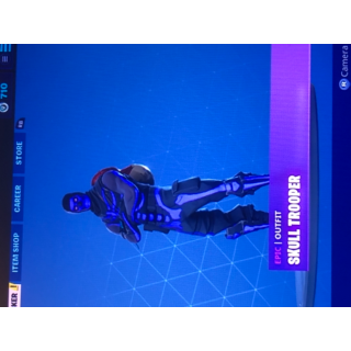 I will  play Fortnite with you with the purple skull topper and season 2 skins