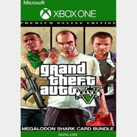 Grand Theft Auto V 5: Premium Edition with MEGALODON Shark Card XBOX ONE *CHEAP* *20% OFF!*