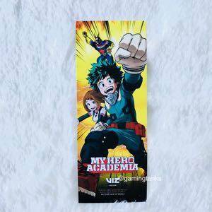 My hero Academia Exclusive Bookmark