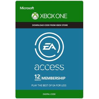 EA ACCESS 12 Months Xbox One Key GLOBAL