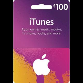 iTunes Gift Card 100$ USA