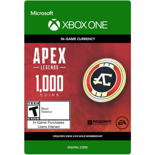 APEX Legends: 1000 Coins Xbox One Key GLOBAL