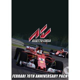 Assetto Corsa - Ferrari 70th Anniversary Pack (DLC) Steam Key GLOBAL
