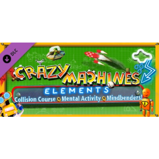 Crazy Machines Elements DLC - Collision Course & Mental Activity DLC (Steam/Global Instant Delivery)