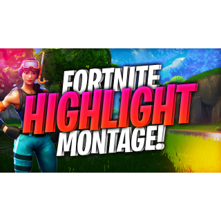 I will edit you a fortnite montage