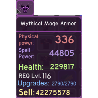 Gear | DQ : Mythical Mage Armor