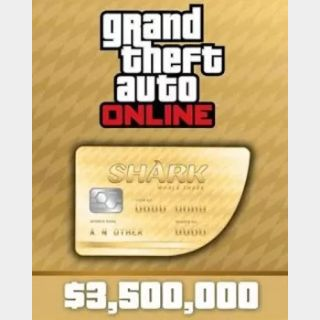 Grand Theft Auto Online (GTA V 5): The Whale Shark Cash Card - Rockstar Key (PC) ✔️