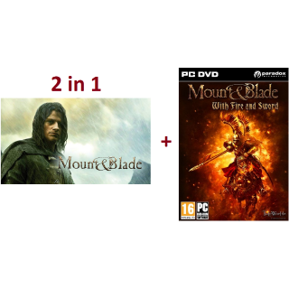 Mount and Blade + M&B with Fire and Sword ✔️Steam Keys