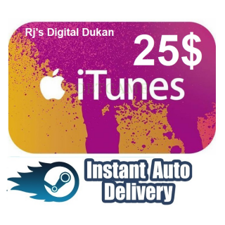 $25.00 iTunes Gift card USA (INSTANT DELIVERY)