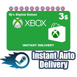 $3.00 Xbox Gift Card US (INSTANT DELIVERY)