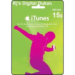 iTUNES 15$ e-Gift card US (INSTANT)