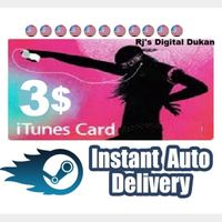 $3.00 iTunes Gift card US (INSTANT DELIVERY)