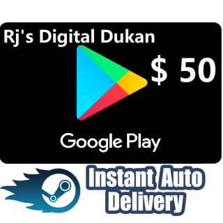 $50.00 Google Play US Gift Card