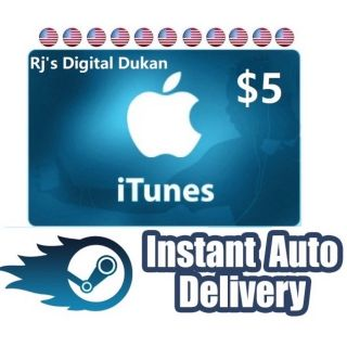 iTunes 5$ e-Gift card US (INSTANT DELIVERY)