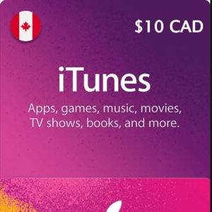 10.00 CAD iTunes Instant Delivery