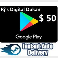 $50.00 Google Play US Gift Card