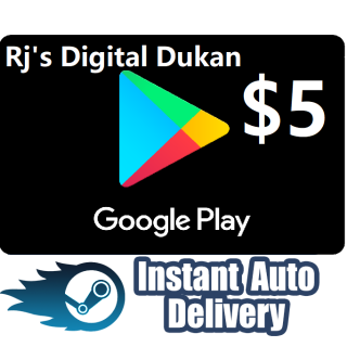 $5.00 Google Play Gift Card US  (INSTANT)