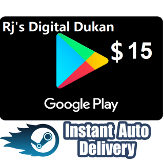 $15.00 Google Play US (INSTANT DELIVERY)