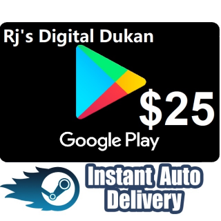 $25.00 Google Play Gift Card USA (INSTANT DELIVERY)