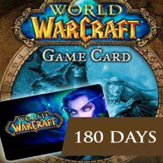 World of Warcraft 180 Days Gamecard EUROPE Battle.net