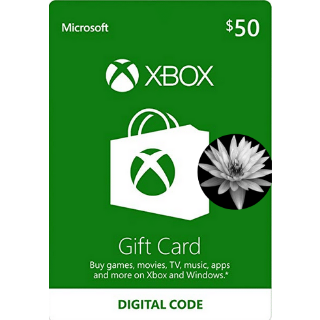 $50.00 USD Xbox Gift Card Instant delivery
