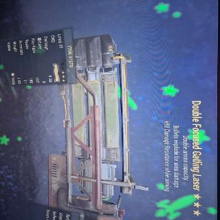 Weapon | D E Laser Gatling +50