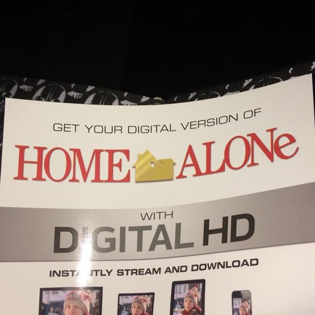 home alone hd ultraviolet or itunes digital movie code